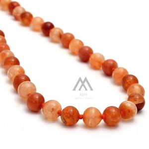 108 Orange Fire Agate Japa Mala