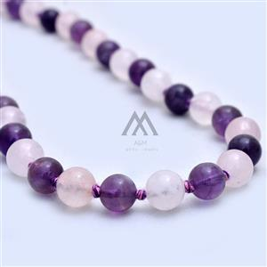 Amethyst-Rose Quartz 108 Mala