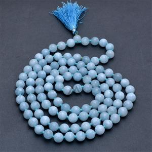 Aquamarine 108 Prayer Beads Mala