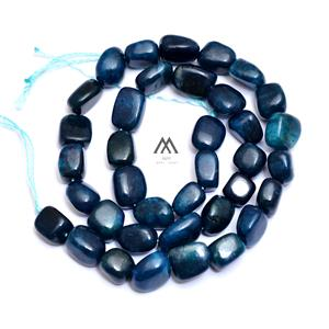 Charismatic Blue Apatite Tumble Loose Beads