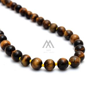 Brown Tiger Eye 108 Japa Mala
