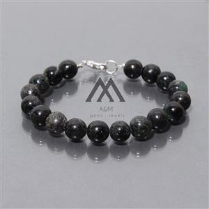 AAA Astrophyllite Black Beads Necklace