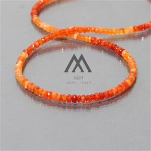 AAA Mexican Fire Opal Beads Necklace
