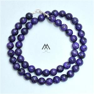 AAA Quality Charoite Smooth Round Necklace