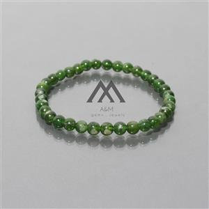 AAA Quality Chrome Diopside Beads Bracelet
