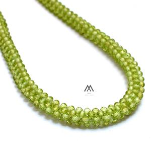 AAA Quality Peridot Hand Woven Rope Necklace