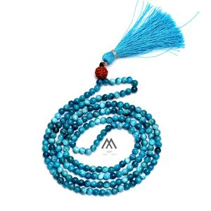 Blue Apatite Tassel Necklace