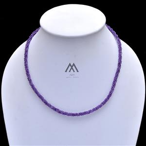 Core Amethyst Rope Beaded Necklace