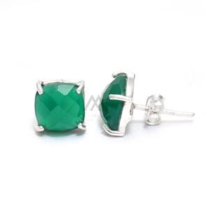 Green Onyx Square Faceted Ring