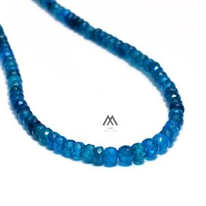 Natura Neon Blue Apatite Beaded Necklace