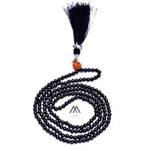 Natural Black Onyx Tassel Necklace