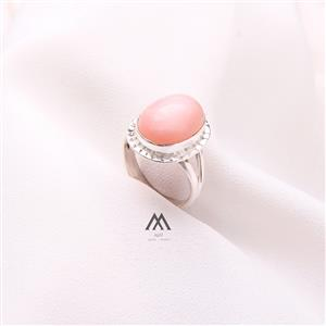 Pleasing Pink Opal Oval Ring